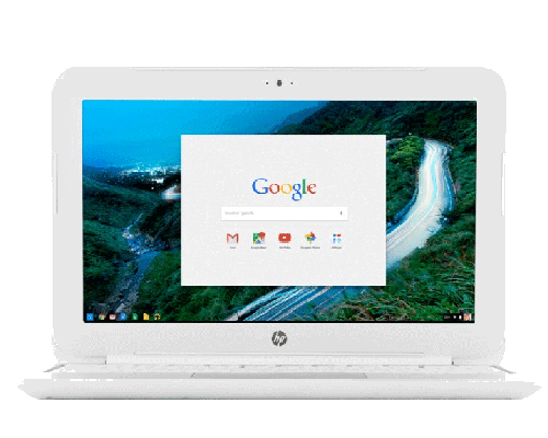 Image of a chromebook laptop rental