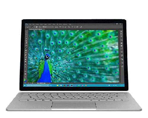 Image of a surface book laptop rental